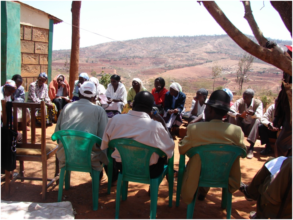 Community meeting on institutional accountability
