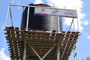 Branded elevated tank for water distribution