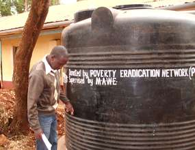 Final Inspection of installed water tank