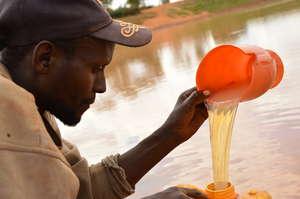 Man fetching water