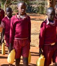 School Children from fetching water
