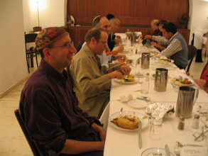 Joint dinner at the retreat