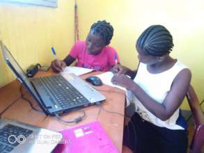 Young women using computers 3