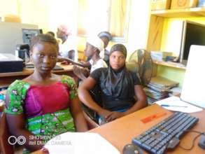 Young women using computers 1
