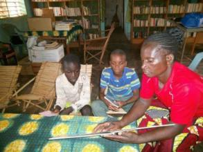 Reading in Karaba library