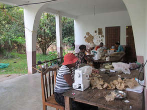 Recent workshop on the porch