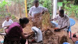 SEPALI team sewing their textile