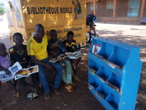 Readers at Ecole B, Hounde, July 2020