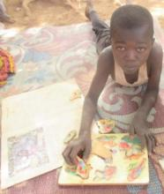 Puzzles with mobile library, Burkina Faso