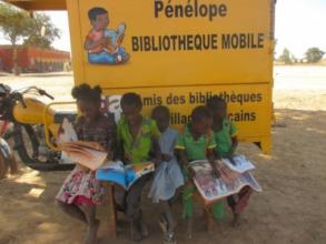 A group of young readers