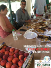 FEEDING FAMILIES FIRE VICTIMES IN PELOPONESE FIRES