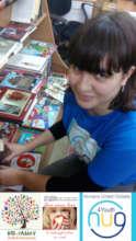 17 years old Volunteer packs gifts for KIDS