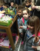 """After """"Working Together""""workshop, Kids took gifts"""