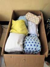 Donations of new items for mother and baby arrive