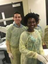 Vanessa and friend at their DC-HAPP internship.