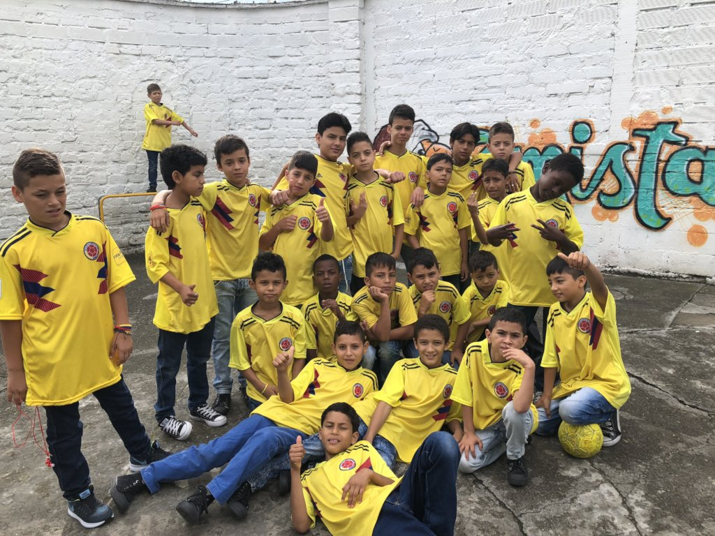Home for abused children in Colombia