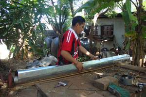 Building chimneys for the improved cookstoves