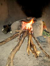 A traditional stove in Nicaragua