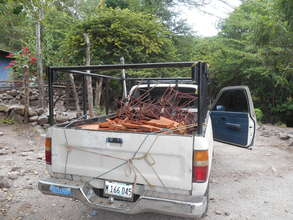 Bringing out materials for the improved cookstoves