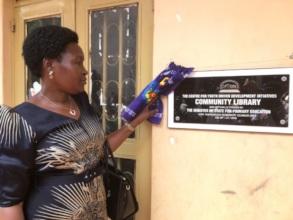 Hon: Minister Seninde opens CFYDDI Comnt'y Library