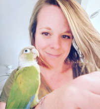 OLLIE LOVES HIS NEW MOM (AND TO PREEN HER HAIR)