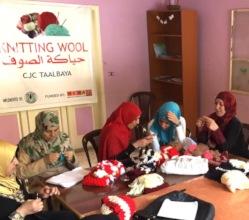 Refugee women attend knitting & crochet lessons