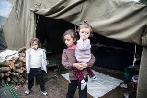Refugees from Syrian in Bekaa Valley, Lebanon