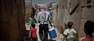 Syrian refugee camp in Baalbeck Valley, Lebanon