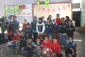 Children in Baalbeck with their new clothes