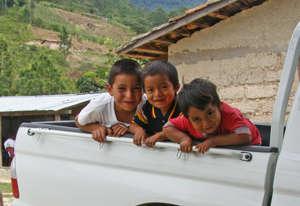 Boys in a truck.