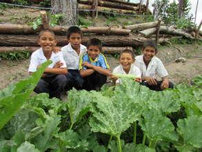 Honduran kids love vegetable gardens.