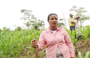 Video still of Honduran woman farmer