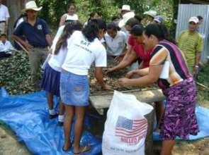 Women being trained by World Vision Hondursa.
