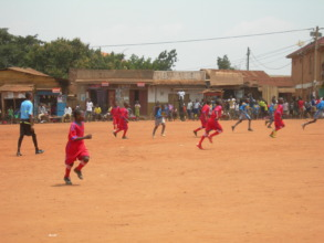 Our children competing in their new, red uniforms.