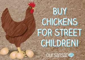 Buy Chickens for street children in Nepal