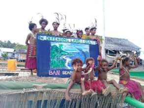 Young children express concern for the land & sea