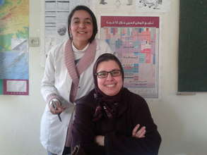 Hanan with one of the particpants