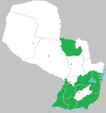 Locations were the courses are available (green)