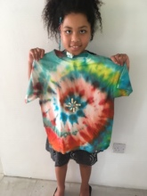 Decorated Tie Dyed T-Shirt