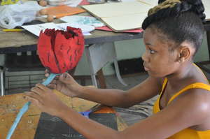 working with paper mache