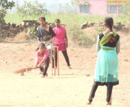All-girls cricket team @ Adharshila