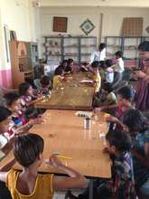 Craft workshop at Adharshila School