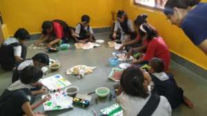 Art session with Udaan beneficiaries.