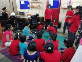 Leadership skill session for Udaan beneficiaries.