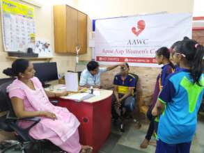 Eye check up camp for Udaan beneficiaries.