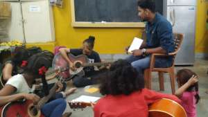 Music classes for Udaan beneficiaries.