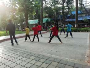 Karate class for Udaan beneficiaries.