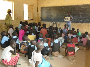 Pupils in class at Kapoeta South Primary School