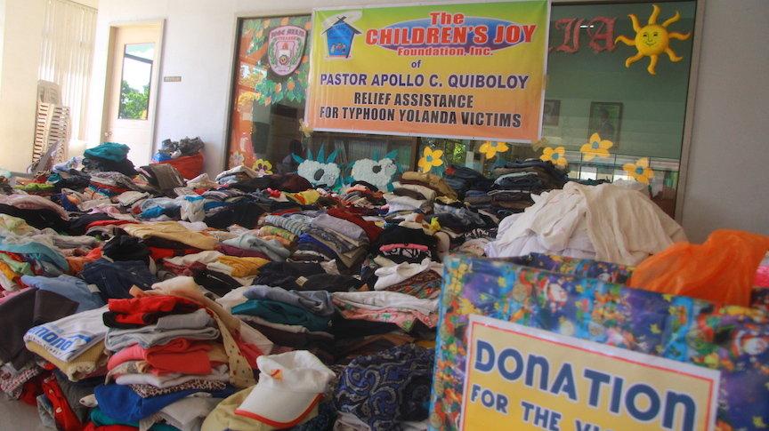 Food for Victims of Super Typhoon Yolanda