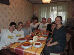 After a cooking workshop in Dnipro